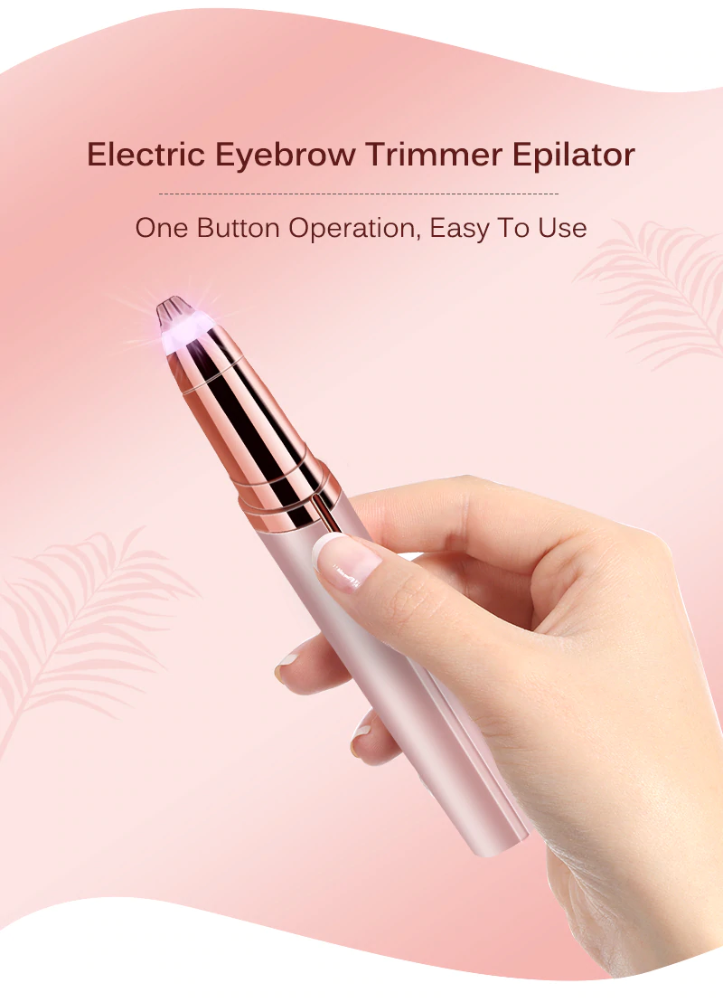 Electric Eyebrow Facial Hair Remover Discreet Pain-Free Epilator Trimmer - iPro Accessories