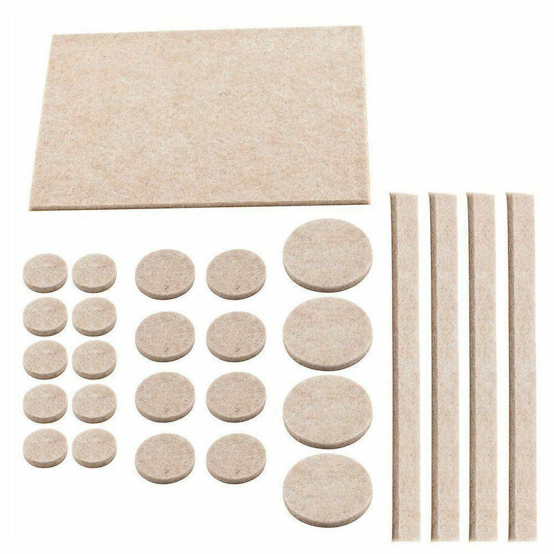 Felt Pads Self Adhesive Furniture Floor Protectors 38Pc - iPro Accessories