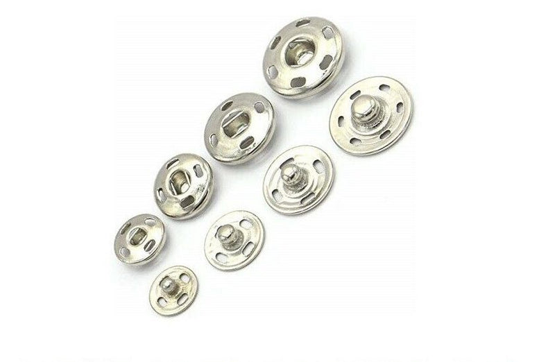 Snap NAP Fastenings Press Studs Duvet Poppers Sew Clothing Button 20Pcs - iPro Accessories