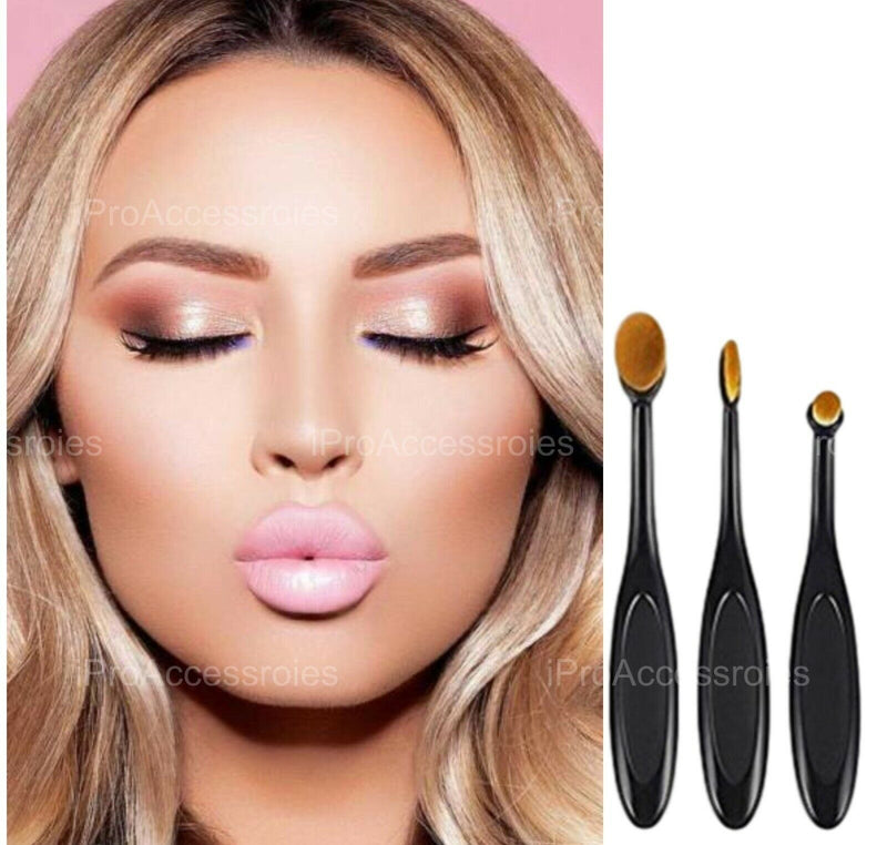 Oval Blending Make up Brush Eye Brush Set of 3 - iPro Accessories