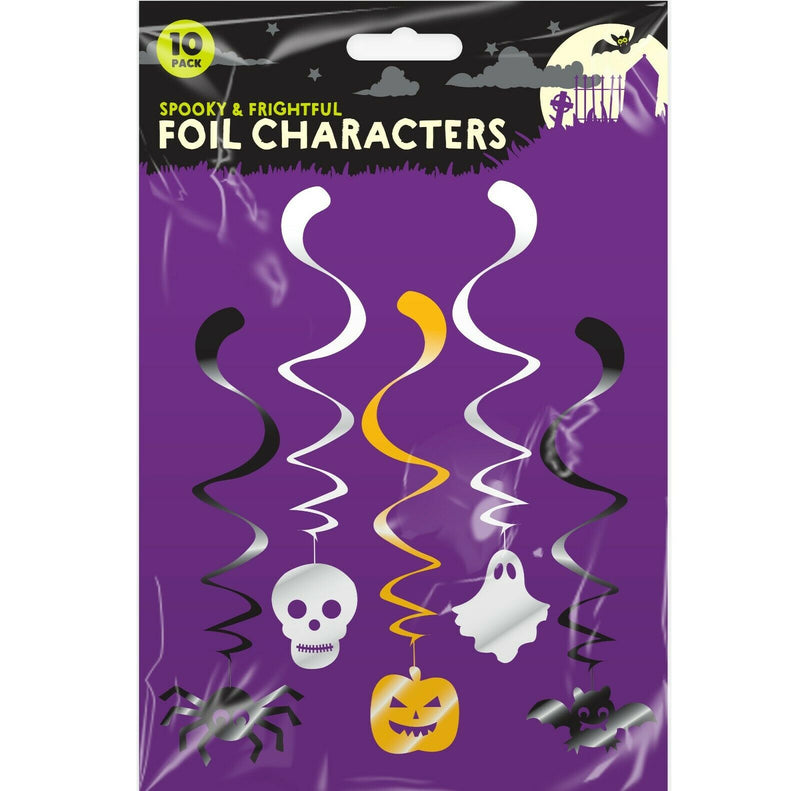 Halloween Hanging Foil Characters 10 Pcs - iPro Accessories