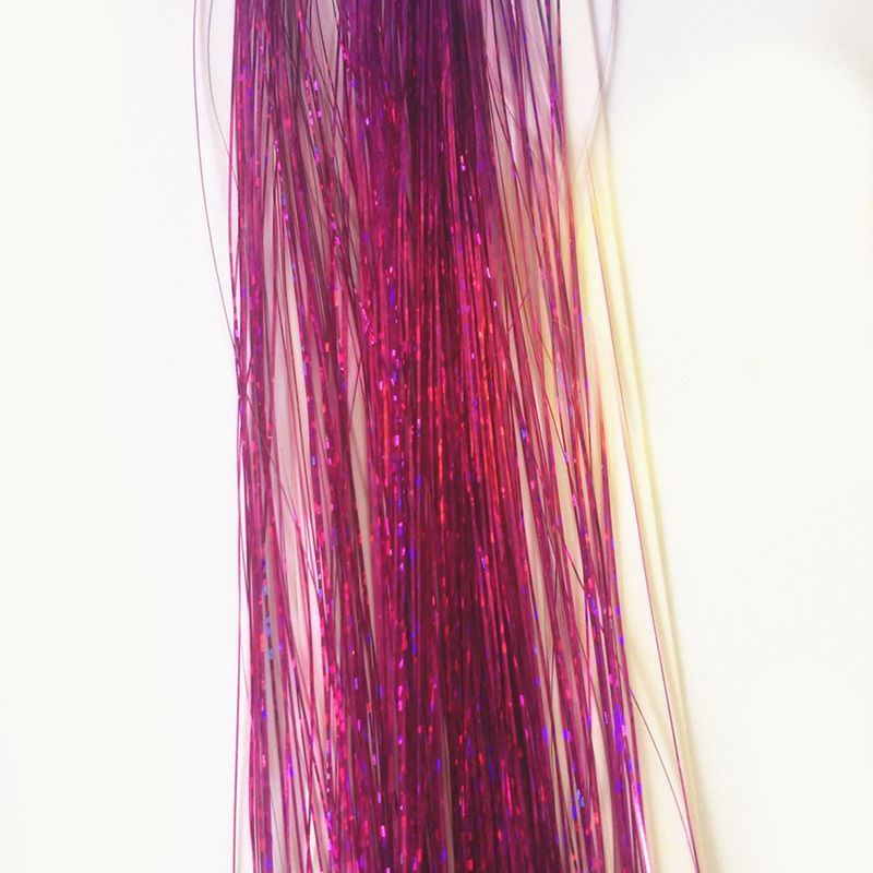 100 Strands Holographic Sparkle Hair Glitter Tinsel Extensions Dazzles - iPro Accessories
