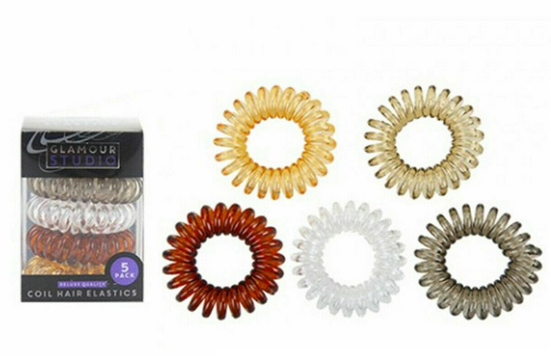 Spiral Coil No Tangle Wire Plastic Elastics Hair Band / Tie Ponytail - iPro Accessories