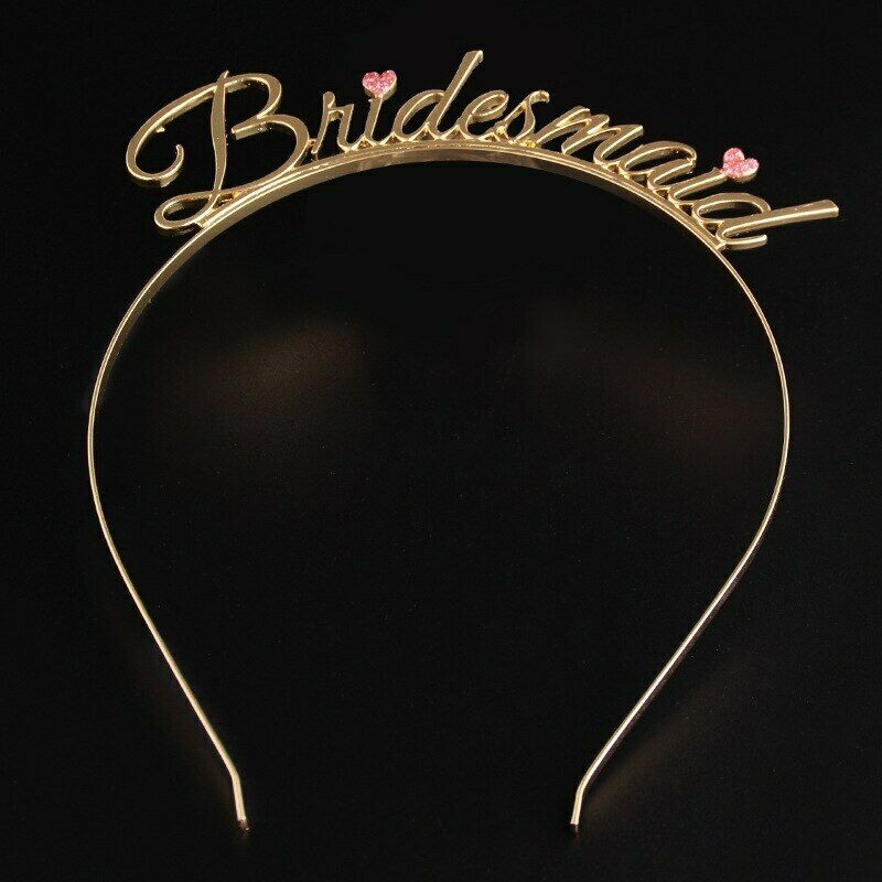 Bride To Be Bridesmaid-Tiara Crown Hen Party Wedding Hair Accessories - iPro Accessories