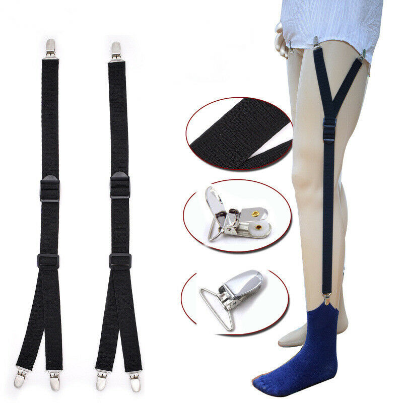 Y Style Men Elastic Band Garters Non slip Socks Shirt Stays Holder Suspender - iPro Accessories
