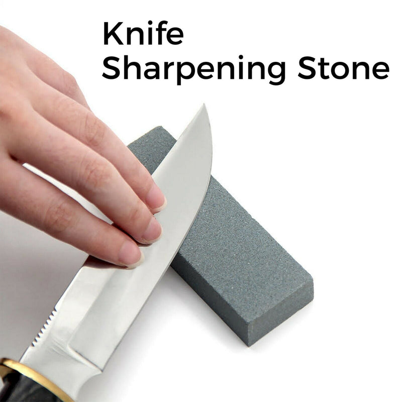 Knife Sharpening Stone Double Sided Knife Sharpener Fine Medium Grit Whetstone - iPro Accessories