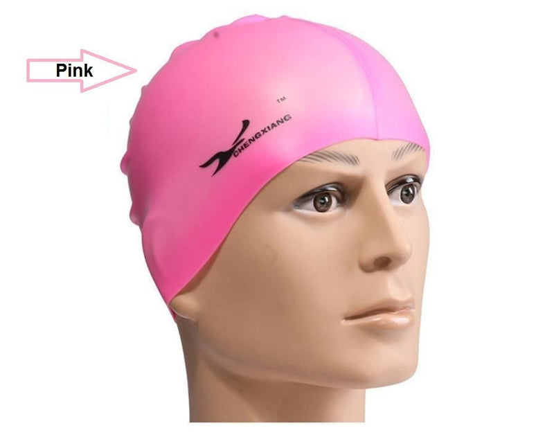 Swimming Swim Cap Hat Girls Boys Childrens Kids Junior Adults Unisex Silicone - iPro Accessories