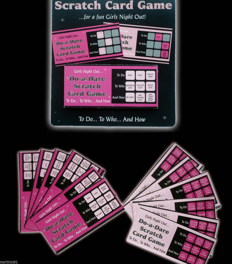Scratch Dare Game Cards Party Cards - iPro Accessories