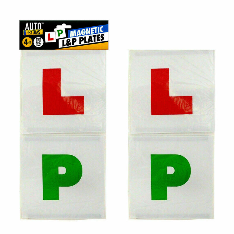 MAGNETIC SECURE LEARNER DRIVER L PLATES P PLATES EXTERIOR CAR - iPro Accessories