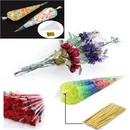 Clear Cellophane Cone Bags With Twist Ties - iPro Accessories
