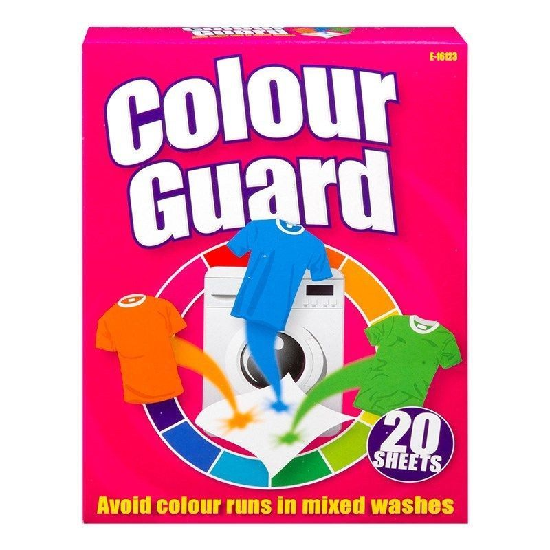 Colour Catcher Guard Avoid Colour Run Washing Machine Clothes 20 SHEETS - iPro Accessories