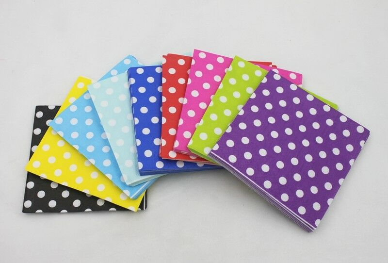 30Pcs Paper 33cm Napkins Party Tableware Plain Solid Colours - iPro Accessories