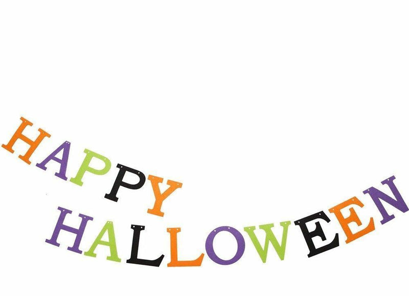 2.75M Felt Happy Halloween Party Banner Decorations - iPro Accessories