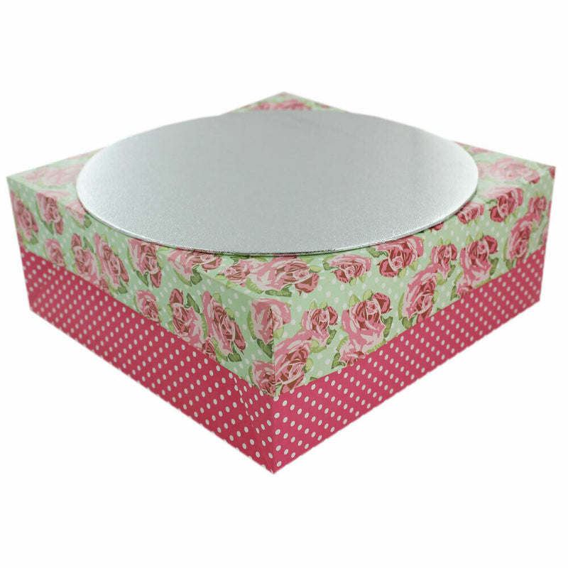 "Single Cake Board with coloured Cake Box Baking 12"" / 10"" - iPro Accessories"
