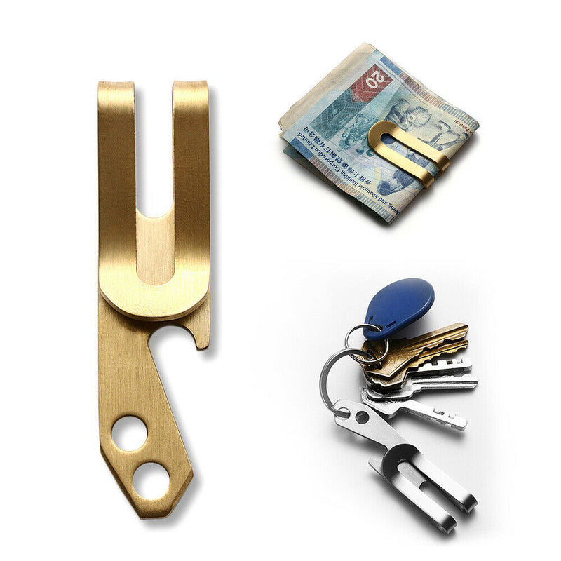 Stainless Steel Money Clip Holder Cash Gift Mens Wedding Favour Bottle Opener - iPro Accessories