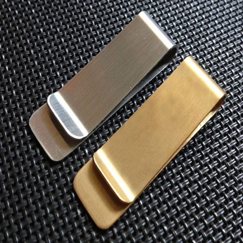 Metal Stainless Steel Money Clip for Cash and Credit Card Holder - iPro Accessories