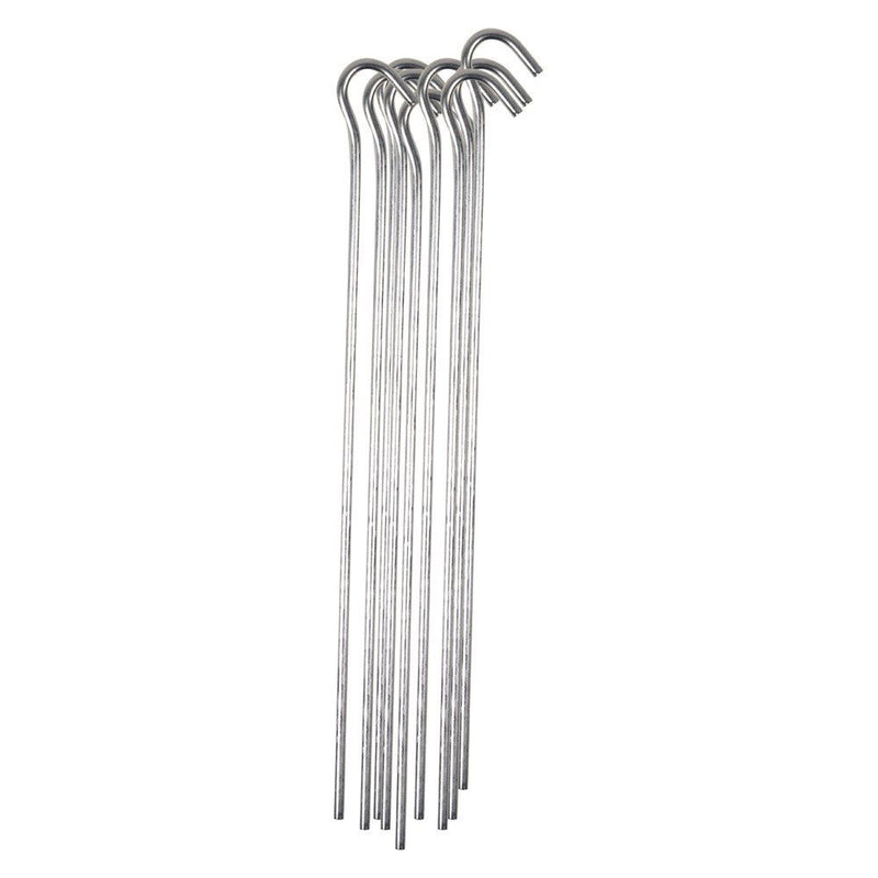 10 Zinc Steel Metal Pins Ground Pegs Hooks - iPro Accessories