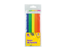 Neon HB Pencils With Eraser Toped Pack of 10 - iPro Accessories