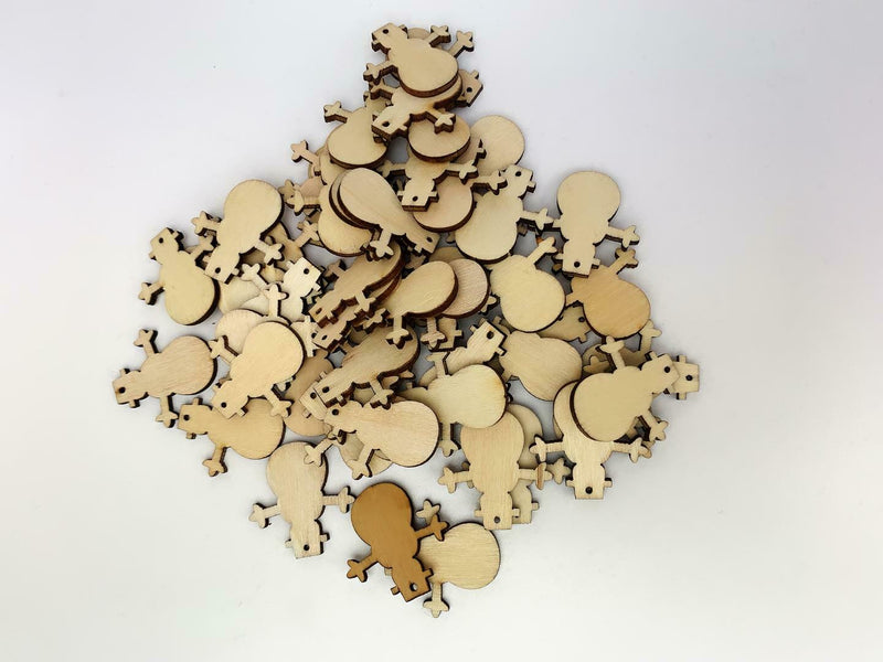 50PCS Christmas Tree Snowman  Snowflake Hanging Ornament Wooden Craft Xmas Decor - iPro Accessories