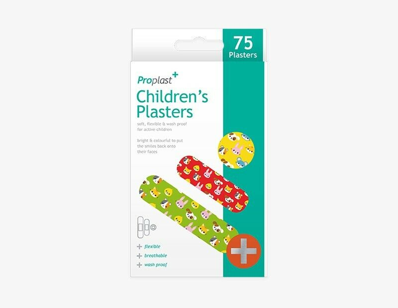 "75 pcs Children""s Plasters Colourful Children Fun Wash Proof Flexible Breathable - iPro Accessories"
