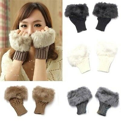 Finger Less Fur Wool Gloves - iPro Accessories