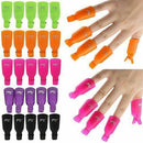Plastic Nail Art Soak Off Cap Clip UV Gel Polish Remover Wrap Tool 10 pcs - iPro Accessories