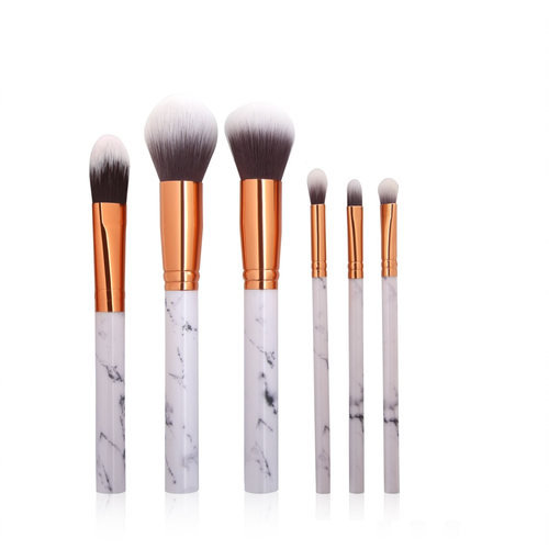 Marble Kabuki Makeup Brush Set 6 Pcs - iPro Accessories