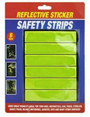 6 Reflective High Visibility Stick On Strips Stickers Hi Vis - iPro Accessories
