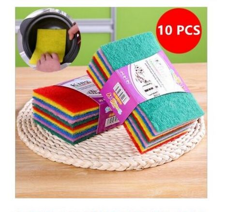 Reusable Scouring Pad Heavy Duty Green Catering Kitchen Sponge Scourer Pads - iPro Accessories