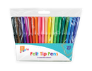 20 x Felt Tips Pens Assorted Drawing Markers Colouring Art Crafts School - iPro Accessories