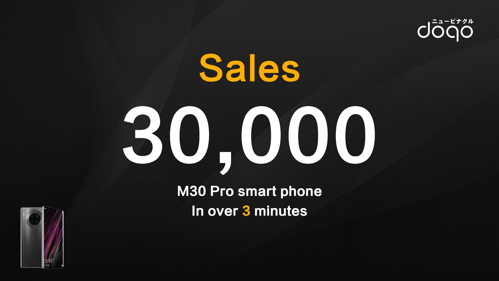 Doqo mobile phone has been sold at least 30,000 in 1 minute