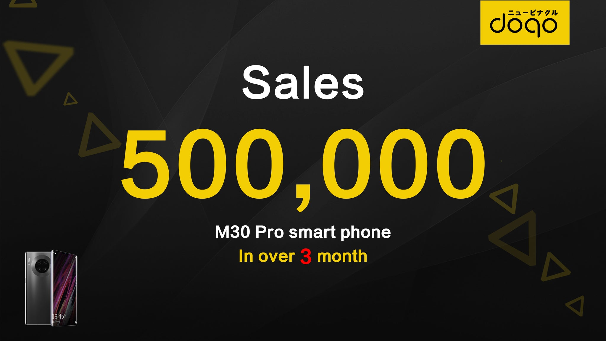 Doqo mobile phone has been sole more than 500,000 in three months