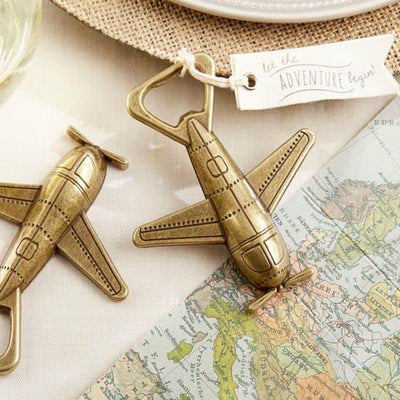 Let the Adventure Begin' Airplane Bottle Opener