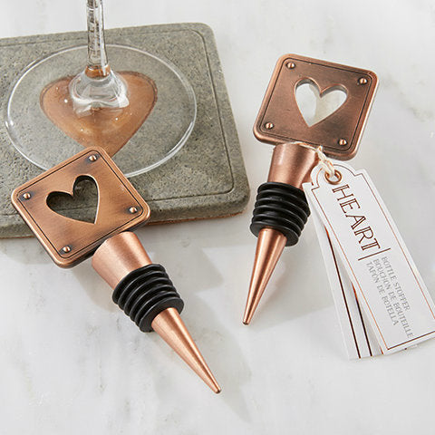 Copper Heart Bottle Stopper