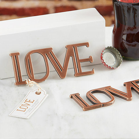 Copper finish 'LOVE' Bottle Opener