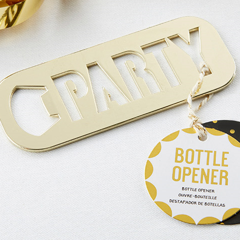 Gold 'Party' Bottle Opener