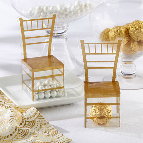 Chiavari Gold Chair Favour Box