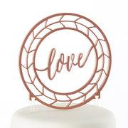 Geometric Copper Love Cake Topper