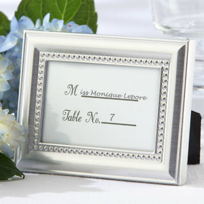 Beautifully Beaded Design Place Card Frame