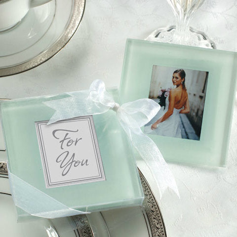 Forever Photo Frosted Glass Coasters