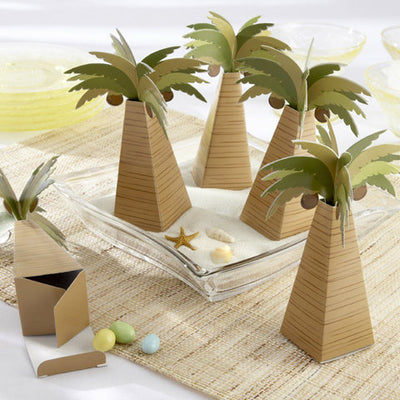 Palm Tree Favour Box with Multi-dimensional Detail