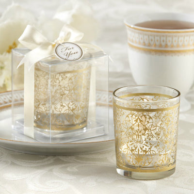 Golden Renaissance' Glass Tealight Holder