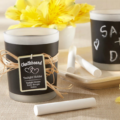 Chalkboard Frosted Candle Favour