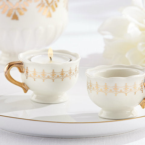 Classic Gold Teacups and Tealights