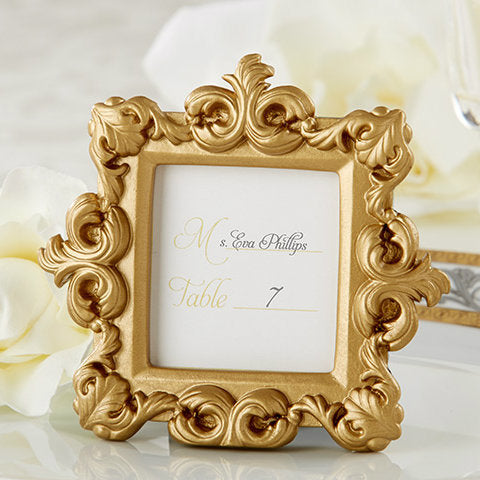 """Royale"" Gold Baroque Place Card Holder"