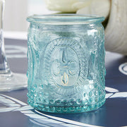 Vintage' Blue Glass Tealight Holder
