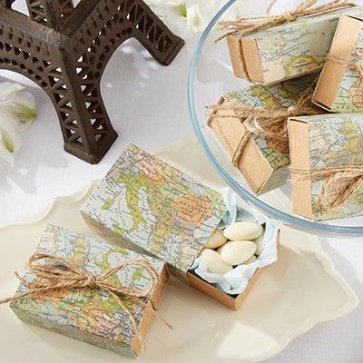 """Around the World"" Map Favour Box"