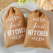 Just Hitched! Vintage Inspired Favour Bag