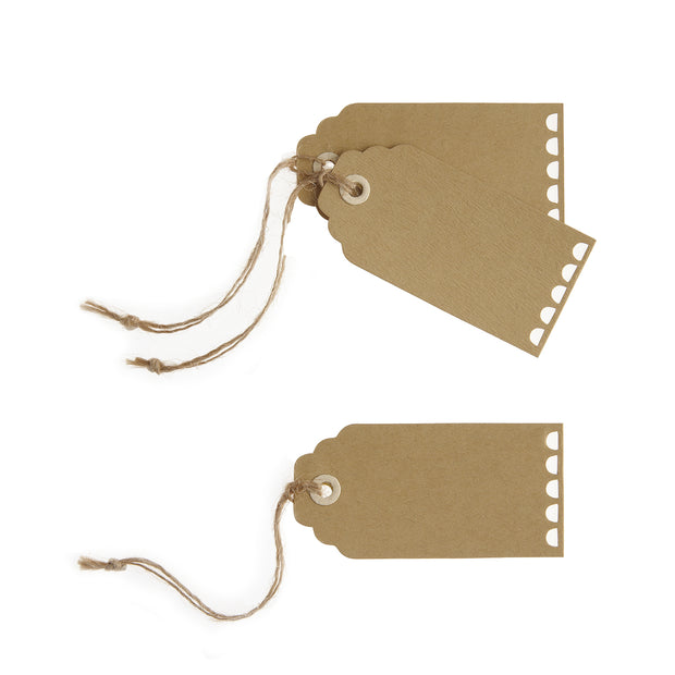 Scallop Edged Rustic Luggage Tags  (Pack of 10)