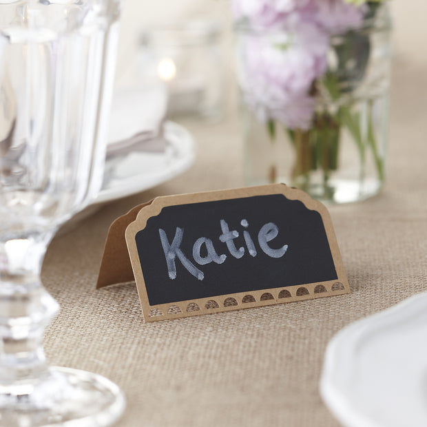 Vintage Affair Chalkboard Kraft Place Cards -  (Pack of 10)